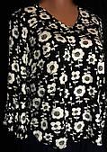 Женская блуза из вискозного трикотажа, очень большой размер 58/60