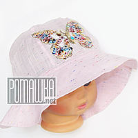 Детская панамка для девочки р. 50 ТМ Ромашка 4066 Розовый
