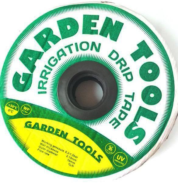 "Капельная лента(щелевая лента) ""Garden Tools"" 7mil, расстояние капельниц 30 см,300м"