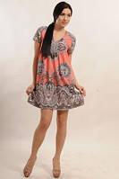 Платье туника летняя молодежная свободного покроя, платье нарядное, фото 1