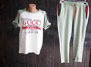 Женский спортивный костюм Gucci.Оливковый