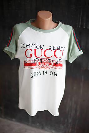 Женский спортивный костюм Gucci.Оливковый, фото 2