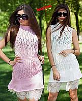 af2cf0f4f58 Ажурное вязаное платье на лето без рукавов tez71031455