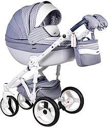 Детская коляска универсальная 2 в 1 Adamex Monte Deluxe Carbon D57 (Адамекс Монте, Польша)