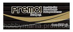 Полимерная глина Premo Sculpey (Премо Скалпей) 227г, черная, №5042 Black, США