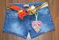 Короткие джинсовые шорты для девочки, р.6 лет