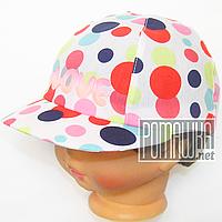 Детская 46 9-12 месяцев 100% хлопок натуральная хлопковая летняя тонкая кепка бейсболка для девочки 4070 КРС
