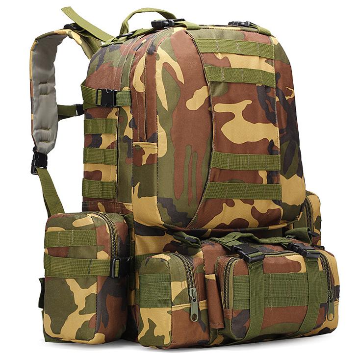 Тактический Штурмовой Военный Рюкзак с подсумками на 50-60литров