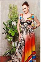 Сарафан нарядный длинный в пол шифоновый, сарафан летний яркий