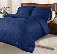 Двуспальное евро постельное белье TAC Brinley Lacivert Жаккард