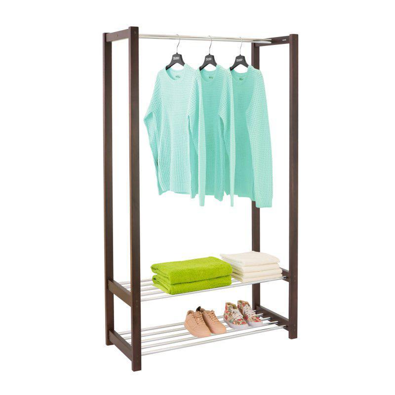 Стойка для одежды Люкс (дерево/металл)