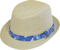 Шляпа детская челентанка солома тачки