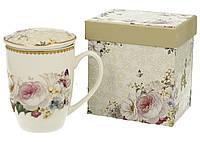 Кружка заварочная с ситечком и крышкой для чая