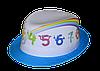 Шляпа детская челентанка фотопринт радуга+бирюза