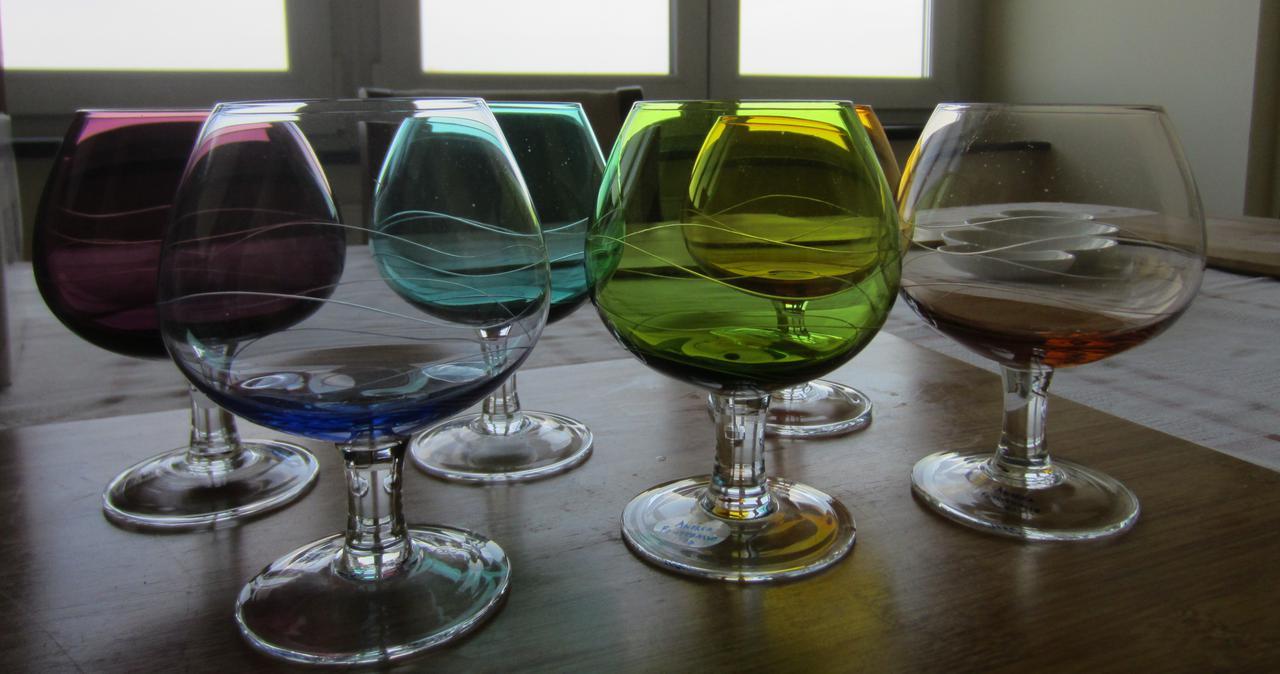 Набор цветных бокалов для коньяка/бренди