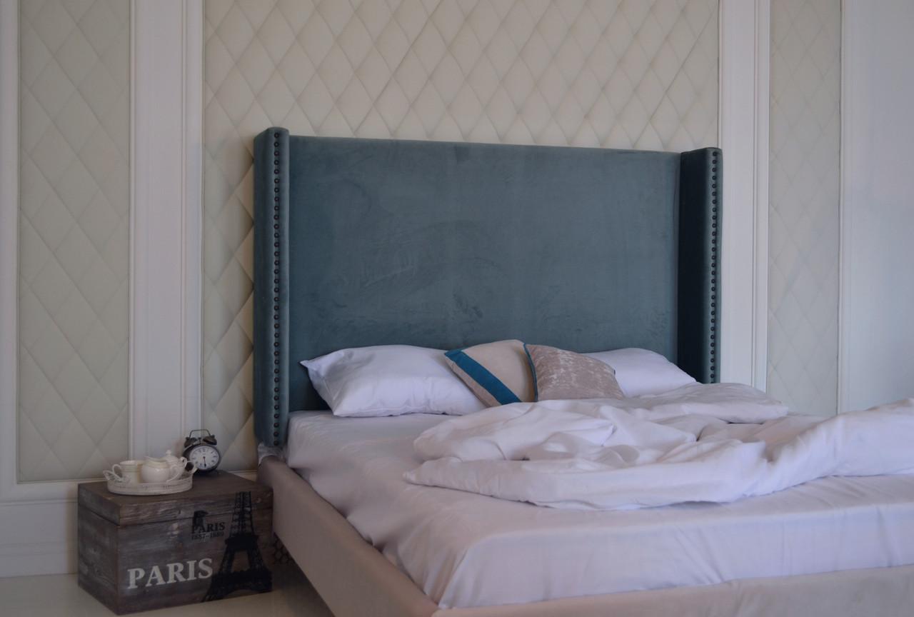 Кровать с мягким изголовьем 160х200см