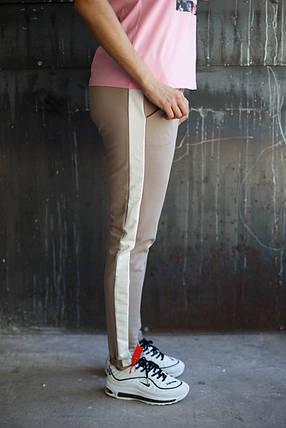 Женские штаны пчела.Коричневый,белый лампас , фото 2