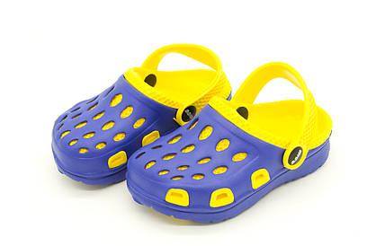 Сабо Детские Сине-желтые 27,28 Размеры