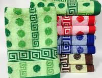 """Качественное метровое полотенце """"Кружочки02"""" для лица, 100% хлопок, 100х50 см., 63/53 (цена за 1 шт. + 10 гр.)"""
