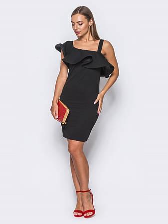 aab496c3c1724e Витончене коктейльне плаття з бретелей на одне плече чорний розмір 42,44,46,