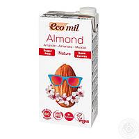 Растительное молоко из миндаля без сахара, EcoMil, 1 л
