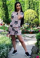 Женский костюм: шорты и футболка, в расцветках. Д-1-0518 (811), фото 1