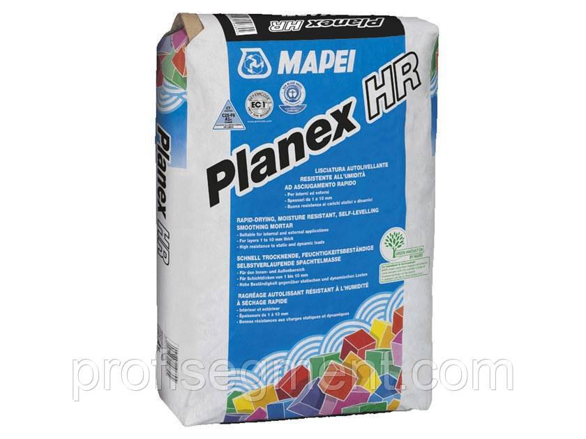 Быстросохнущая водостойкая самовыравнивающая смесь для внутренних и наружных работ Mapei Planex HR Maxi/25 - Планекс