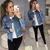 Женская модная джинсова куртка