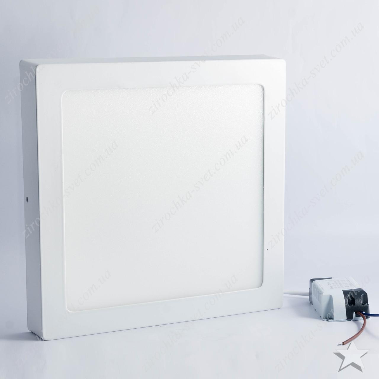 Накладной светодиодный светильник квадрат 18w Feron AL505 1440Lm 5000K
