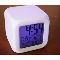Часы хамелеон, с будильником и термометром (Часы с термометром меняющие цвет), фото 2