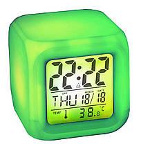 Часы хамелеон, с будильником и термометром (Часы с термометром меняющие цвет), фото 3