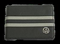 Кожаная обложка для прав Carrs с логотипом VOLKSWAGEN черная (VW04)