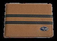 Кожаная обложка для прав Carrs с логотипом SUBARU коричневая (SUB21)