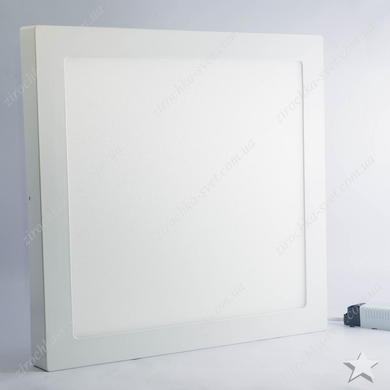 Накладной светодиодный светильник квадрат 24w Feron AL505 1920Lm 5000K