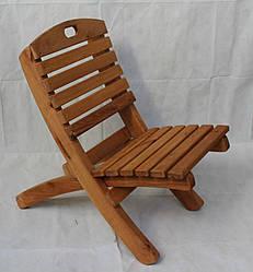 Шезлонг складной деревянный - ольха