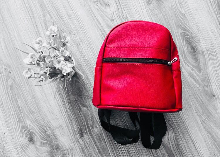 Стильный женский рюкзак красный маленький  эко-кожа ЕСТЬ РАЗНЫЕ ЦВЕТА