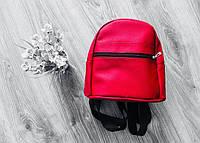 Стильный женский рюкзак красный маленький  эко-кожа ЕСТЬ РАЗНЫЕ ЦВЕТА, фото 1