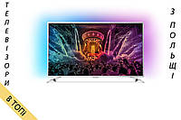 Телевизор PHILIPS 49PUS6561 Android TV 4K/Ultra HD T2 S2 1800Hz Ambilight 3 из Польши 2017 год