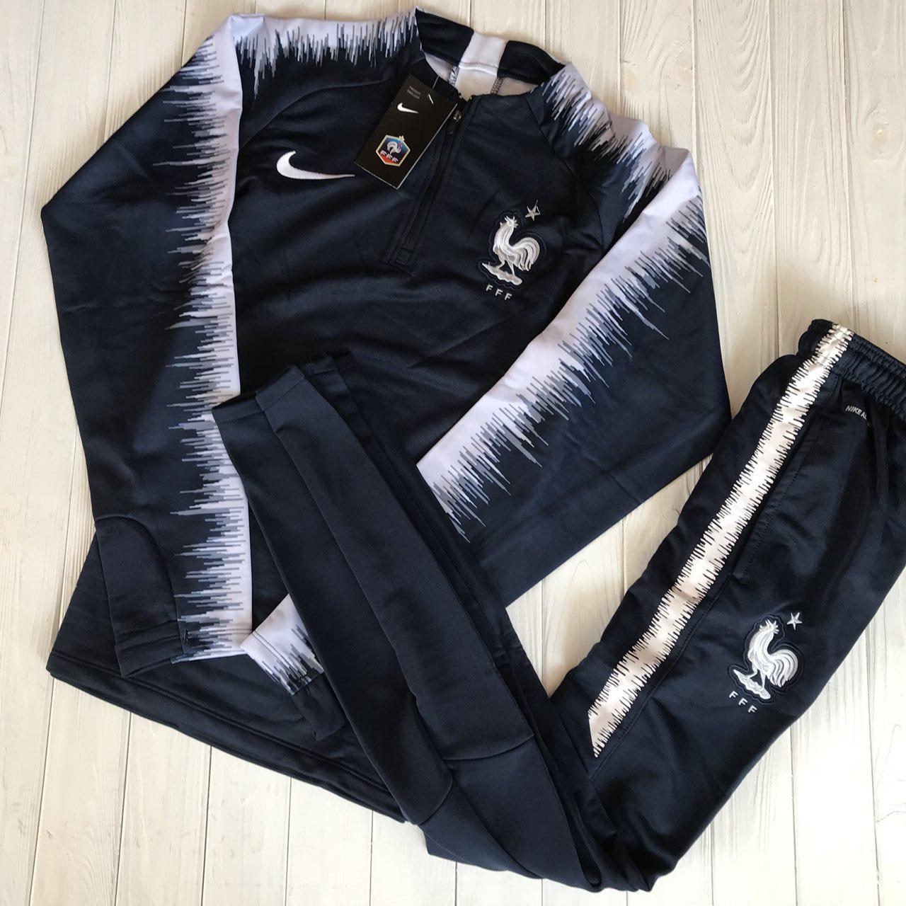 04770b83ea9a Спортивный (тренировочный ) костюм сборной Франции (France) 2018-2019  сезона - Sport