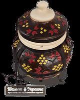 Тандыр модель №3 (дизайн украинский-коричневый)