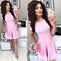 Романтичное платье ( арт. 103/2 ), ткань софт+ эластан, цвет розовый, фото 1