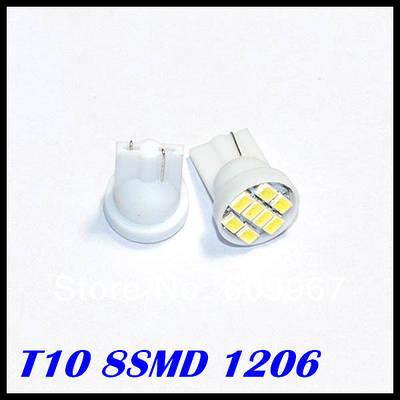 Лампы T10 - 1206 8 - LED белый свет автомобиля