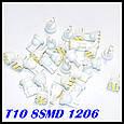 Лампы T10 - 1206 8 - LED белый свет автомобиля, фото 3