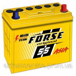 Аккумулятор автомобильный FORSE ORIGINAL ASIA 55AH R+480A