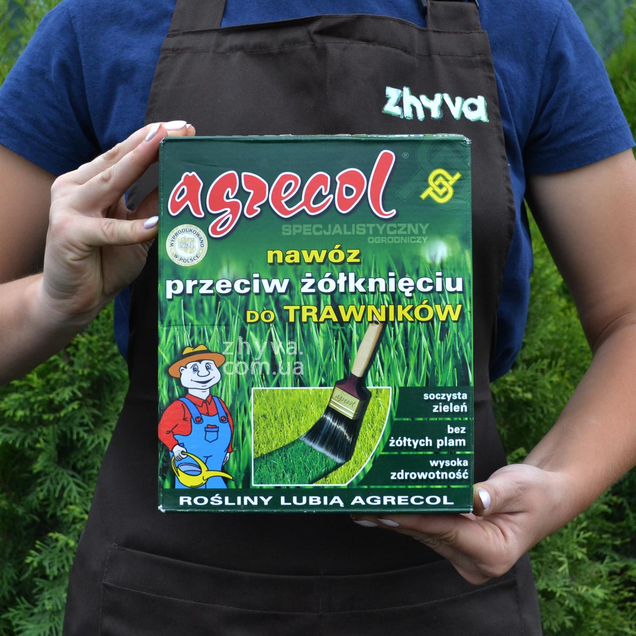 Добриво Agrecol для газону від пожовтіння трави 1кг