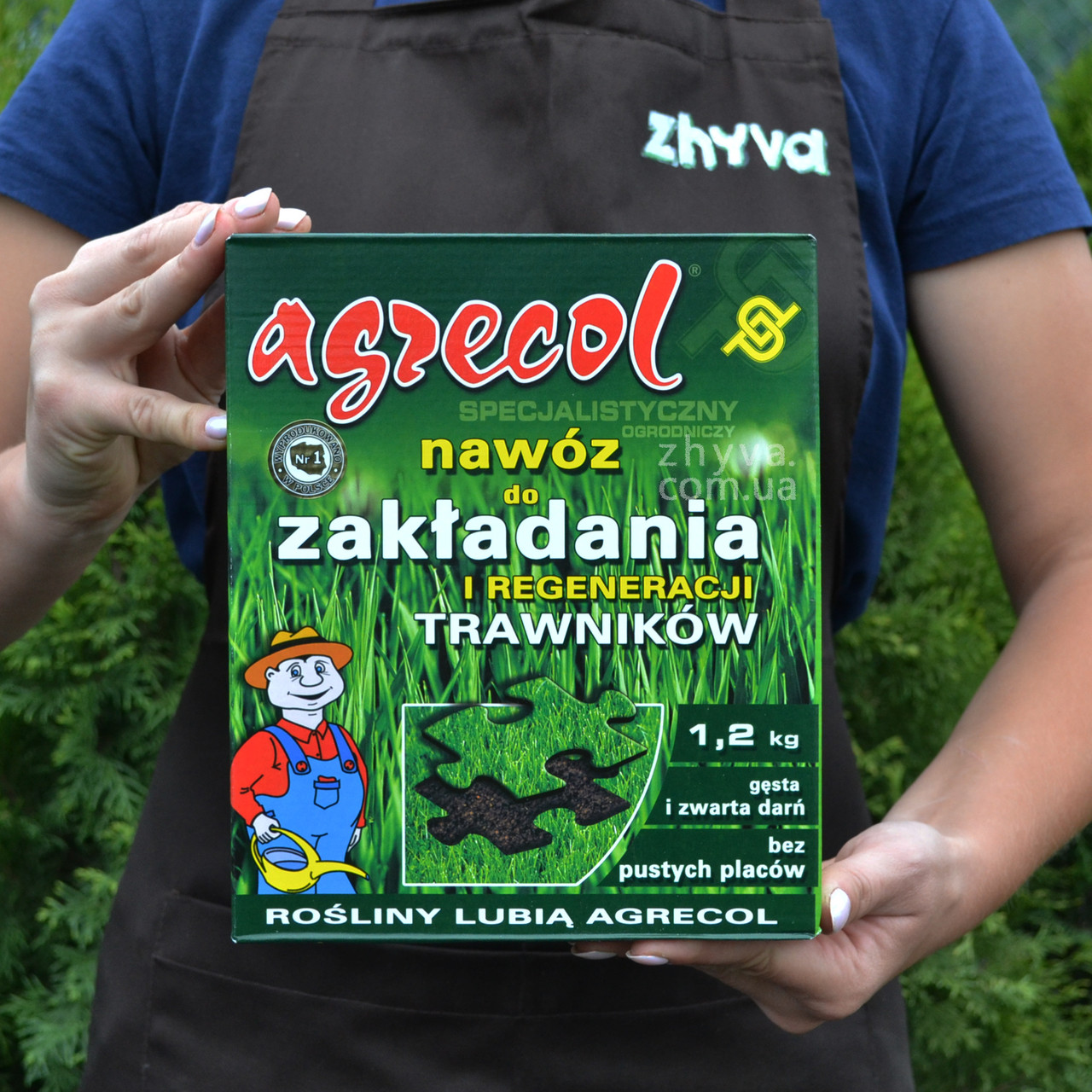 Добриво Agrecol для газону Закладнання та відновлення 1,2 кг