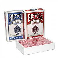 Карты Bicycle Prestige Jumbo Index 100% plastic