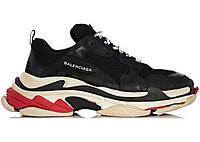 "Кроссовки Balenciaga Triple S ""Black White Red"" - ""Черные Белые Красные"" (Копия ААА+)"
