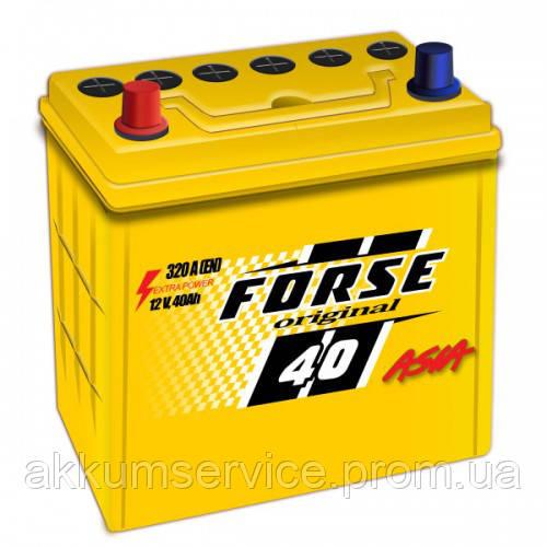 Акумулятор автомобільний FORSE ORIGINAL ASIA 40AH L+ 320A (NS40) тонка