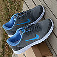 Кроссовки Nike Free Run dark gray blue 39/40, фото 2